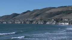 The Pacific coastline at Pismo Beach, California. - stock footage