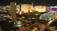 Stock Video Footage of Lights illuminate the city of Las Vegas at night.