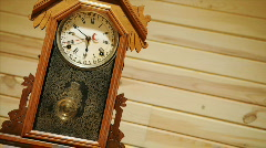 Time lapse of antique pendulum clock running. Stock Footage
