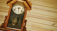 Time lapse of antique pendulum clock running. Stock Footage
