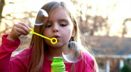 Stock Video Footage of Blowing Bubbles 1179