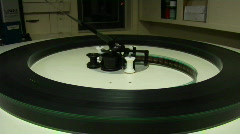 Film runs on a flatbed plate in a projection room. Stock Footage
