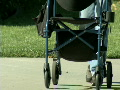 Elderly man with pushcart Footage