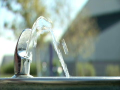 Water Fountain 2 slow mo - stock footage