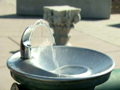 Water Fountain 4 slow mo Stock Footage