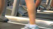 Women Treadmill Low Angle 2 Stock Footage