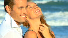 Love on the Beach - stock footage