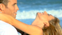 Love on the Beach Stock Footage