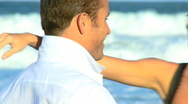 Love on the Beach Stock Footage
