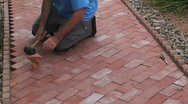 Paving Garden Path Edging Stock Footage