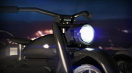 Stock Video Footage of 17 CGI motorcycle single night redo