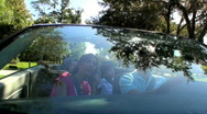 Luxury Family Driving  Stock Footage