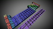 17 CGI periodic Table two Stock Footage