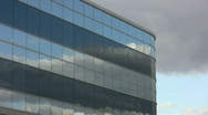 Stock Video Footage of Office reflects clouds. Timelapse.