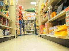 Shopping CART POV - stock footage