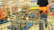 Shopping Cart POV shopper Stock Footage