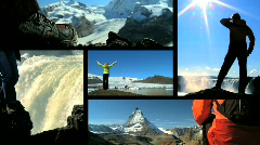 Hiking Adventures Montage Stock Footage