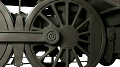 Wheel of train - stock footage