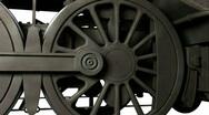 Wheel of train Stock Footage