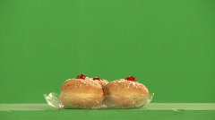 Chanuka donats green 1 Stock Footage