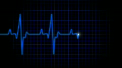 ekg blue - stock footage