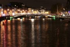 Dublin, Ireland, Liffey river scenery Stock Footage