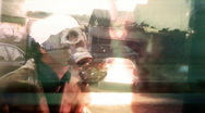 17 Gasmask Mark scary OLD fallout Stock Footage