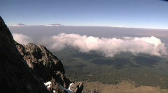 Malinche Mountain Mexico Clouds Time Lapse 2 Stock Footage