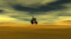 Hellfire Missile Strike Stock Footage