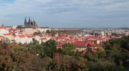 An overview of Prague, Czech Republic. Stock Footage