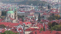 An overview of Prague, Czech Republic. - stock footage