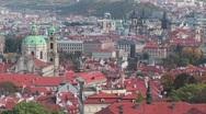 An overview of Prague, Czech Republic. Stock Footage