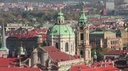 A view over Prague, Czech Republic. Stock Footage