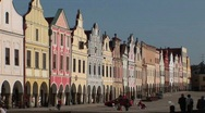 The charming town of Mikulov in the Czech Republic. Stock Footage