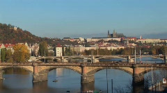 A view of Prague in the Czech Republic. Stock Footage