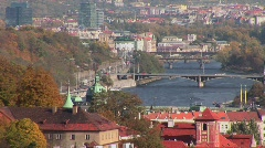 A view across Prague in the Czech Republic. Stock Footage