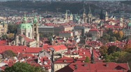 A beautiful panoramic overview of Prague, Czech Republic. Stock Footage