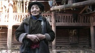 Stock Video Footage of An elderly woman in China.