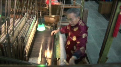 A man works in a Chinese textile factory. Stock Footage