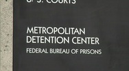 A zoom back from a Federal Detention Center in Los Angeles. Stock Footage