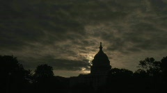 A timelapse of the Capitol Building in Washington DC. - stock footage