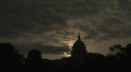 Stock Video Footage of A timelapse of the Capitol Building in Washington DC.