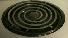An oven heating coil warms to red hot status. Stock Footage