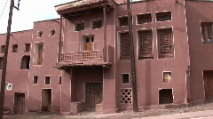 A red, traditional style building in Iran. Stock Footage