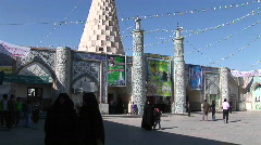 The Tomb of the Prophet Daniel in Susa, Iran. Stock Footage