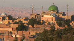 A city in Iran featuring a building with a green dome. Stock Footage