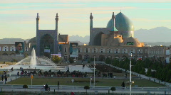 Naqsh-e Jahan Square in Isfahan, Iran. Stock Footage