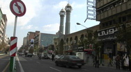A busy city street in Tehran, Iran. Stock Footage