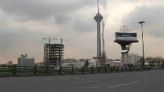 Milad Tower in Tehran, Iran. Stock Footage