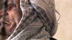 An elderly man wearing a keffiyah speaks in Iran. Stock Footage